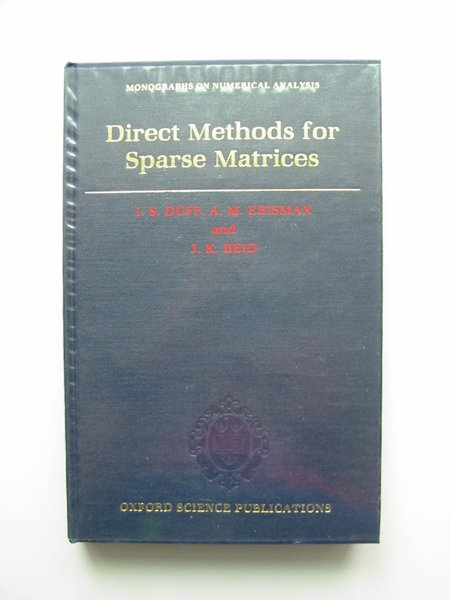 Photo of DIRECT METHODS FOR SPARSE MATRICES written by Duff, I.S. Erisman, A.M. Reid, J.K. published by Oxford University Press (STOCK CODE: 598129)  for sale by Stella & Rose's Books