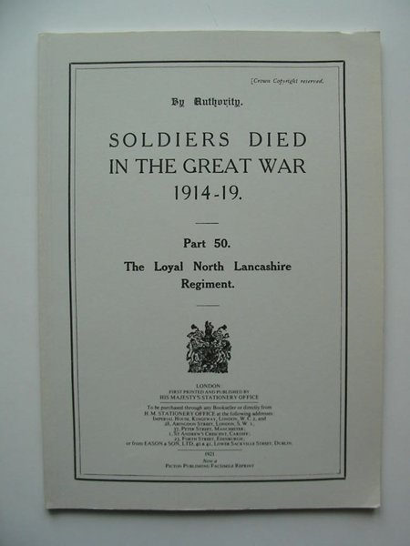 Photo of SOLDIERS DIED IN THE GREAT WAR 1914-19 PART 50 published by Picton Publishing (STOCK CODE: 599054)  for sale by Stella & Rose's Books