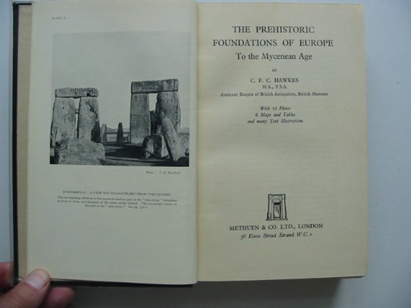 Photo of THE PREHISTORIC FOUNDATIONS OF EUROPE TO THE MYCENEAN AGE written by Hawkes, C.F.C. published by Methuen & Co. Ltd. (STOCK CODE: 601638)  for sale by Stella & Rose's Books