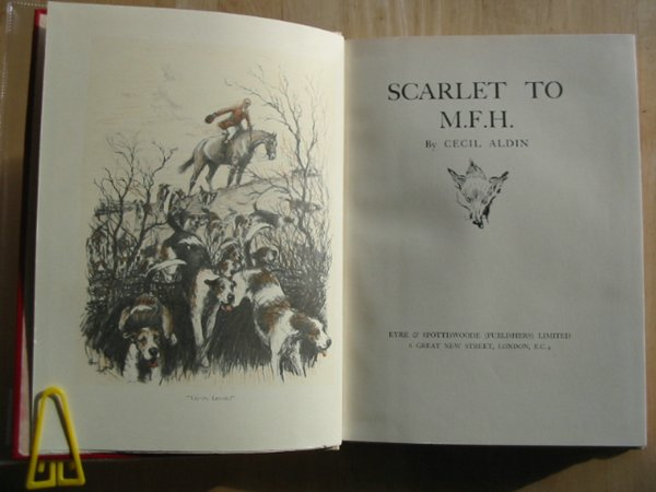 Photo of SCARLET TO M.F.H. written by Aldin, Cecil illustrated by Aldin, Cecil published by Eyre & Spottiswoode (STOCK CODE: 626663)  for sale by Stella & Rose's Books