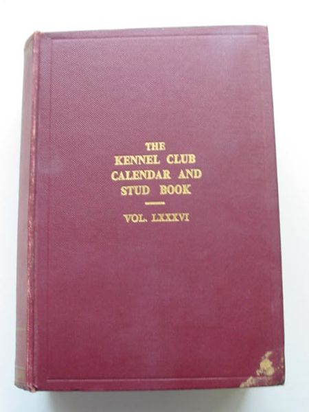 Photo of THE KENNEL CLUB CALENDAR & STUD BOOK FOR THE YEAR 1958 VOL LXXXVI- Stock Number: 626943