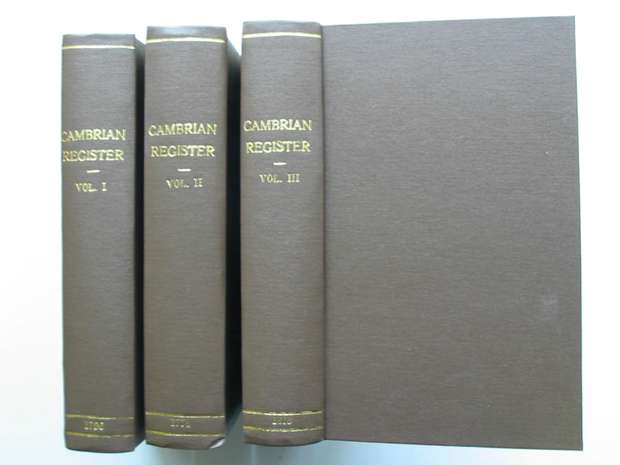 Photo of THE CAMBRIAN REGISTER FOR THE YEAR 1795 & 1796 & 1818(3 VOLUMES)- Stock Number: 627232
