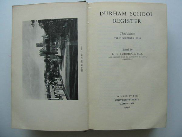 Photo of DURHAM SCHOOL REGISTER TO DECEMBER 1939- Stock Number: 627670