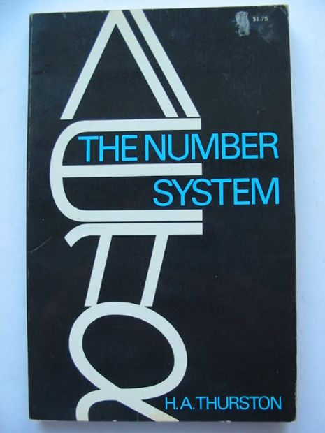 Photo of THE NUMBER-SYSTEM written by Thurston, H.A. published by Dover Publications Inc. (STOCK CODE: 628499)  for sale by Stella & Rose's Books