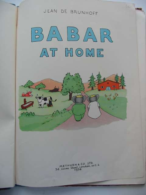 Photo of BABAR AT HOME written by De Brunhoff, Jean illustrated by De Brunhoff, Jean published by Methuen & Co. Ltd. (STOCK CODE: 630032)  for sale by Stella & Rose's Books