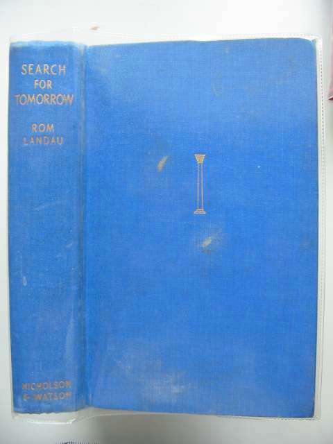 Photo of SEARCH FOR TOMORROW written by Landau, Rom published by Nicholson & Watson (STOCK CODE: 683968)  for sale by Stella & Rose's Books