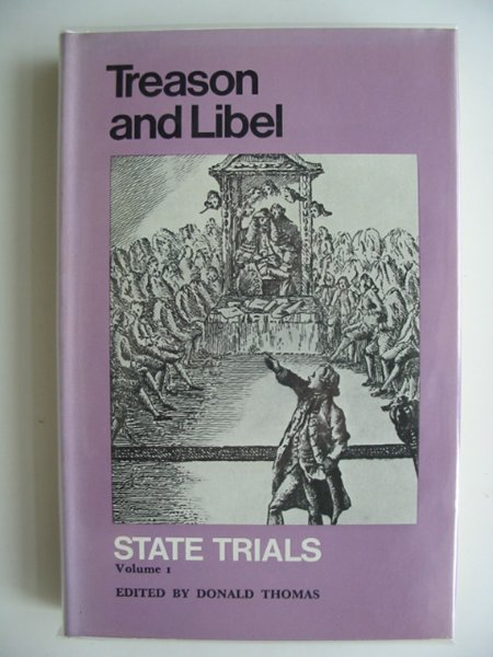 Photo of TREASON AND LIBEL STATE TRIALS VOLUME I written by Thomas, Donald published by Routledge & Kegan Paul (STOCK CODE: 685134)  for sale by Stella & Rose's Books
