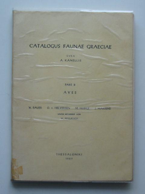 Photo of CATALOGUS FAUNAE GRAECIAE- Stock Number: 696749