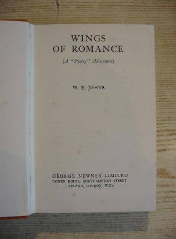 Photo of WINGS OF ROMANCE written by Johns, W.E. published by George Newnes Limited (STOCK CODE: 729148)  for sale by Stella & Rose's Books