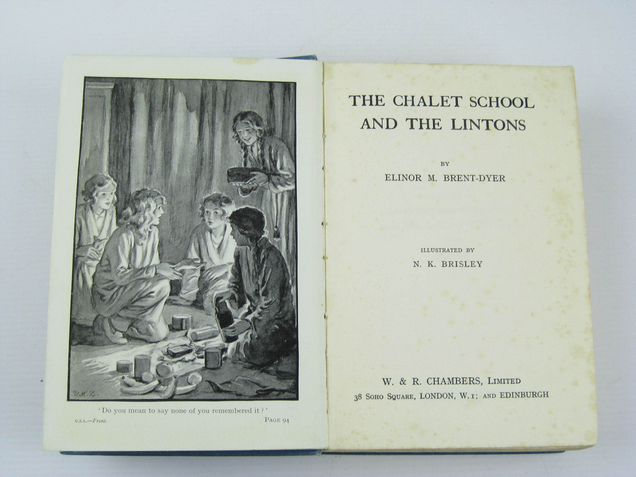 Photo of THE CHALET SCHOOL AND THE LINTONS written by Brent-Dyer, Elinor M. illustrated by Brisley, Nina K. published by W. & R. Chambers Limited (STOCK CODE: 733381)  for sale by Stella & Rose's Books