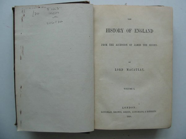 Photo of THE HISTORY OF ENGLAND- Stock Number: 806270