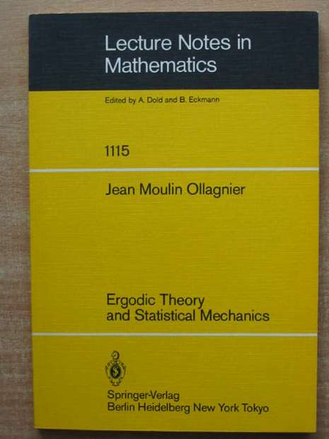Photo of ERGODIC THEORY AND STATISTICAL MECHANICS written by Ollagnier, Jean Moulin published by Springer-Verlag (STOCK CODE: 807670)  for sale by Stella & Rose's Books