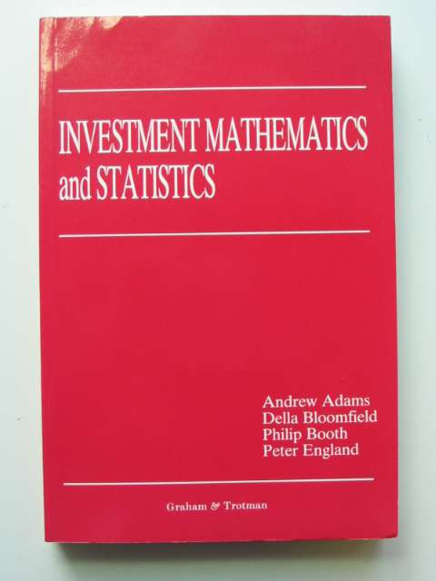 Photo of INVESTMENT MATHEMATICS AND STATISTICS- Stock Number: 811044