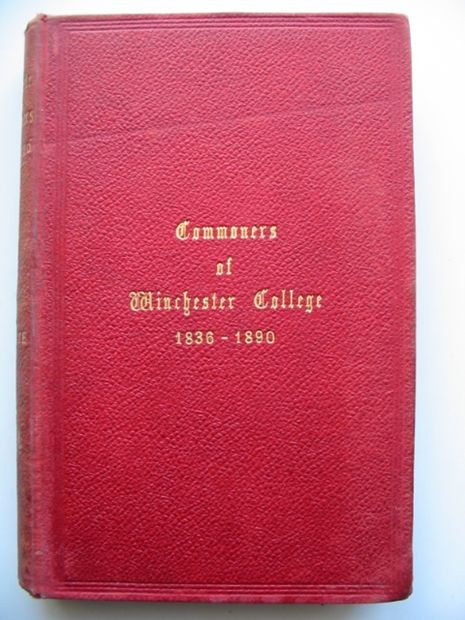 Photo of WINCHESTER COMMONERS 1836-1890 written by Holgate, Clifford Wyndham published by Brown & Co. (STOCK CODE: 811099)  for sale by Stella & Rose's Books