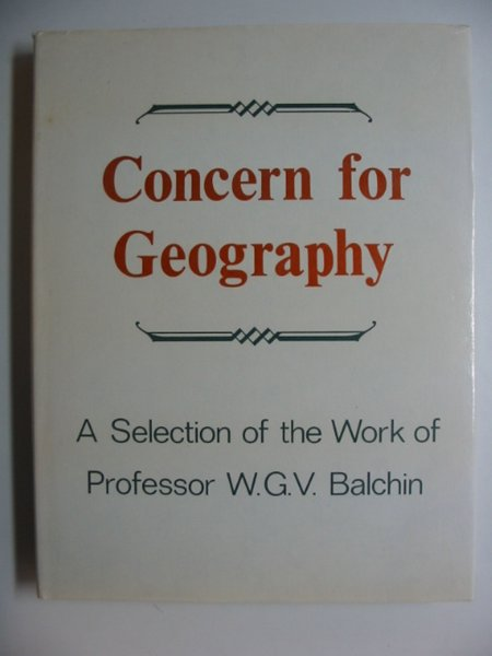 Photo of CONCERN FOR GEOGRAPHY written by Balchin, W.G.V. published by University of Swansea (STOCK CODE: 811329)  for sale by Stella & Rose's Books