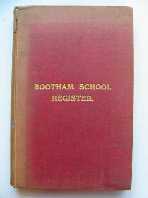 Photo of BOOTHAM SCHOOL REGISTER- Stock Number: 812045