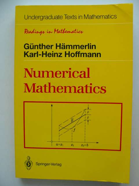 Photo of NUMERICAL MATHEMATICS written by Hammerlin, Gunther Hoffmann, Karl-Heinz published by Springer-Verlag (STOCK CODE: 812739)  for sale by Stella & Rose's Books