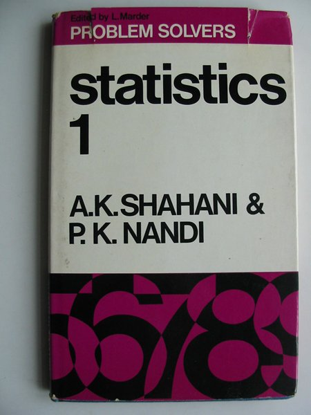 Photo of STATISTICS 1 written by Shahani, A.K. Nandi, P.K. published by George Allen & Unwin Ltd. (STOCK CODE: 813729)  for sale by Stella & Rose's Books