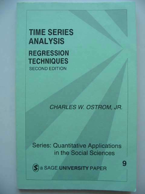 Photo of TIME SERIES ANALYSIS REGRESSION TECHNIQUES written by Ostrom, Charles W. published by Sage Publications (STOCK CODE: 815838)  for sale by Stella & Rose's Books