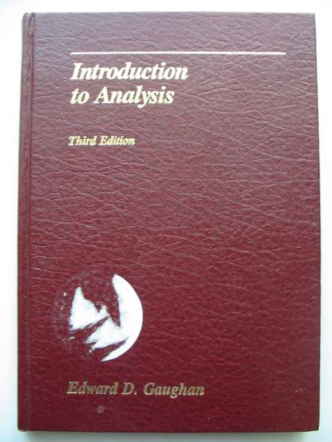 Photo of INTRODUCTION TO ANALYSIS written by Gaughan, Edward D. published by Brooks Cole (STOCK CODE: 815897)  for sale by Stella & Rose's Books