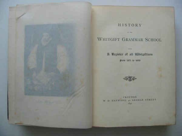 Photo of HISTORY OF THE WHITGIFT GRAMMAR SCHOOL published by W.D. Hayward (STOCK CODE: 817253)  for sale by Stella & Rose's Books
