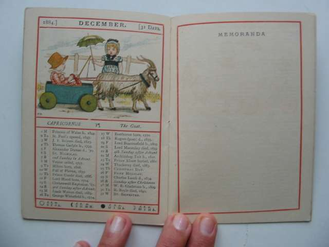 Photo of ALMANACK FOR 1884 written by Greenaway, Kate illustrated by Greenaway, Kate published by George Routledge & Sons (STOCK CODE: 817784)  for sale by Stella & Rose's Books