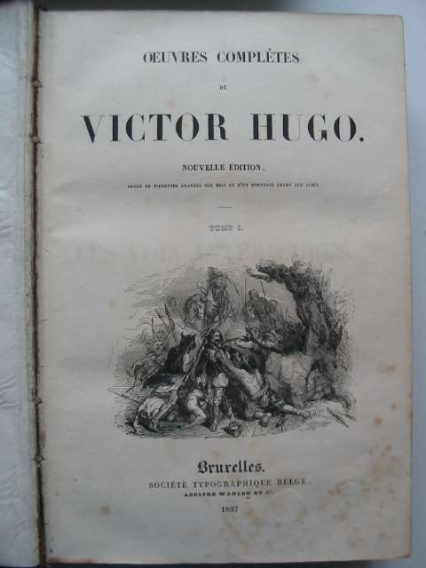 Photo of OEUVRES COMPLETES DE VICTOR HUGO written by Hugo, Victor published by Societe Typographique Belge (STOCK CODE: 817790)  for sale by Stella & Rose's Books