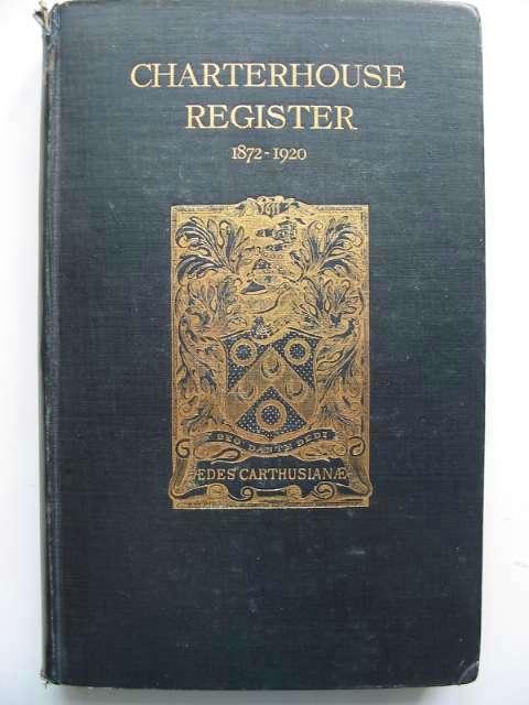 Photo of CHARTERHOUSE REGISTER 1911-1920 VOL III- Stock Number: 817861