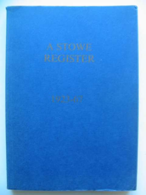 Photo of A STOWE REGISTER 1923-67- Stock Number: 818195