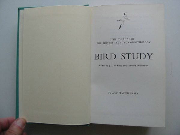Photo of BIRD STUDY VOLS. 17-18 written by Flegg, J.J.M. Williamson, Kenneth published by British Trust for Ornithology (STOCK CODE: 818243)  for sale by Stella & Rose's Books