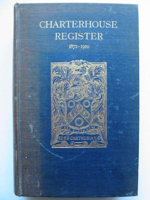 Photo of CHARTERHOUSE REGISTER 1872-1910 VOLUME II- Stock Number: 818458