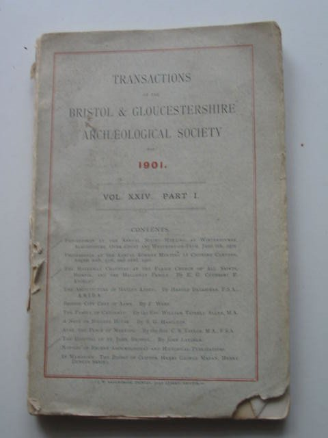 Photo of TRANSACTIONS OF THE BRISTOL AND GLOUCESTERSHIRE ARCHAEOLOGICAL SOCIETY VOL XXIV PART I published by Bristol and Gloucestershire Archaeological Society (STOCK CODE: 819656)  for sale by Stella & Rose's Books