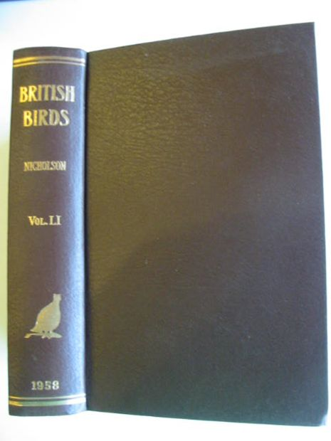 Photo of BRITISH BIRDS VOL. LI written by Nicholson, E.M. published by H.F. & G. Witherby Ltd. (STOCK CODE: 875015)  for sale by Stella & Rose's Books