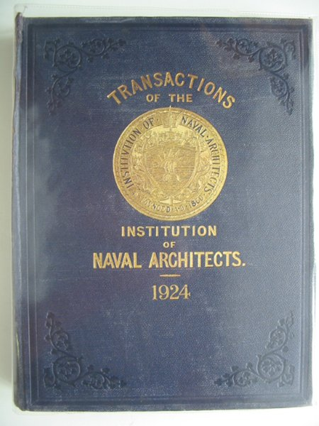 Photo of TRANSACTIONS OF THE INSTITUTION OF NAVAL ARCHITECTS VOLUME LXVI- Stock Number: 900440