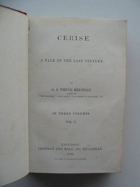 Photo of CERISE written by Whyte-Melville, G.J. published by Chapman & Hall (STOCK CODE: 983487)  for sale by Stella & Rose's Books