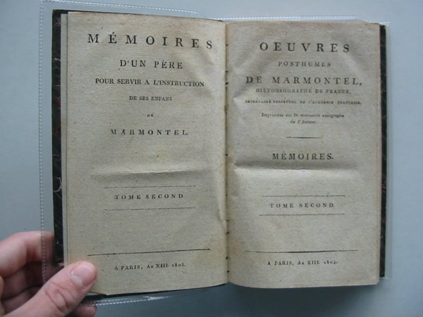 Photo of OEUVRES POSTHUMES DE MARMONTEL written by Marmontel, Jean-Francois published by A Paris (STOCK CODE: 988703)  for sale by Stella & Rose's Books