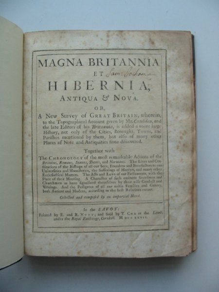 Photo of MAGNA BRITANNIA ET HIBERNIA OXFORDSHIRE published by E. And R. Nutt (STOCK CODE: 988738)  for sale by Stella & Rose's Books
