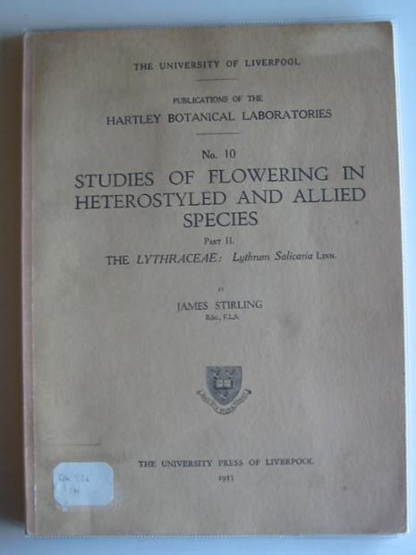 Photo of STUDIES OF FLOWERING IN HETEROSTYLED AND ALLIED SPECIES PART II- Stock Number: 990132