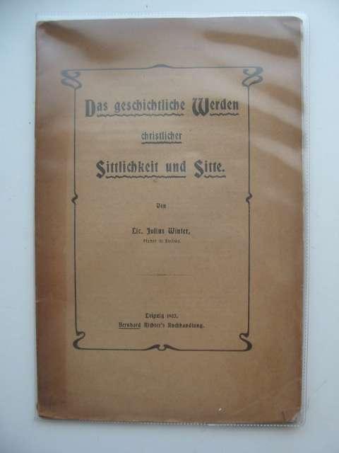 Photo of DAS GESCHICHTLICHE WERDEN CHRISTLICHER written by Winter, Julius published by Bernhard Richter (STOCK CODE: 990287)  for sale by Stella & Rose's Books