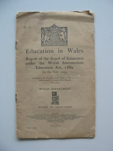 Photo of EDUCATION IN WALES published by HMSO (STOCK CODE: 990358)  for sale by Stella & Rose's Books