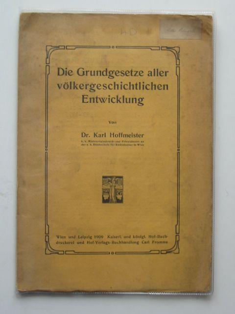 Photo of DIE GRUNDGESETZE ALLER VOLKERGESCHTLICHEN ENTWICKLUNG- Stock Number: 990360