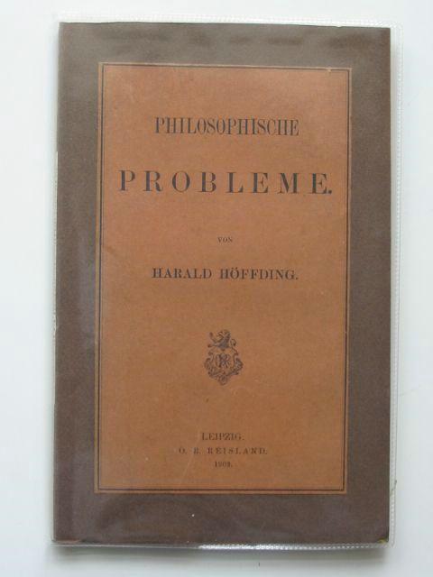 Photo of PHILOSOPHISCHE PROBLEME- Stock Number: 990436