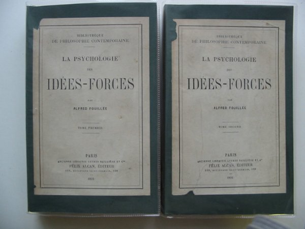 Photo of LA PSYCHOLOGIE DES IDEES-FORCES written by Fouillee, Alfred published by Felix Alcan (STOCK CODE: 990439)  for sale by Stella & Rose's Books