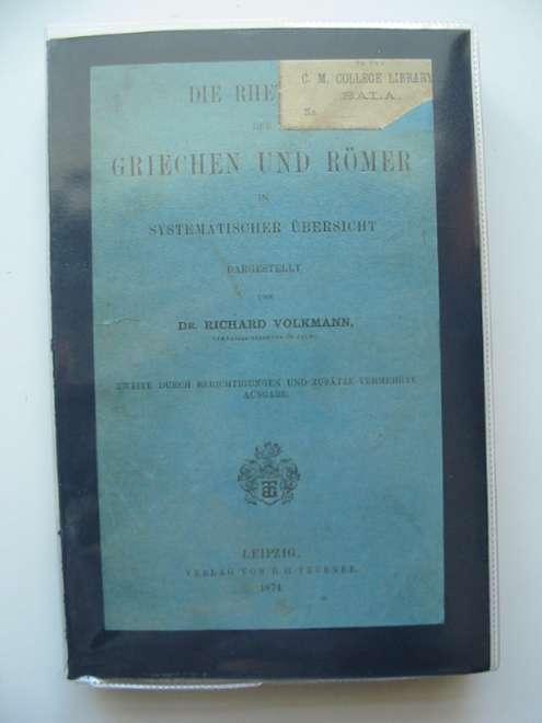 Photo of DIE RHETORIK DER GRIECHEN UND ROMER IN SYSTEMATISCHER UBERSICHT- Stock Number: 990453