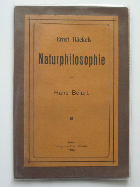 Photo of ERNST HACKELS NATURPHILOSOPHIE- Stock Number: 990456